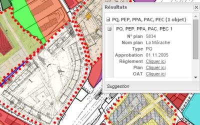 Plan des zones et plans de quartier