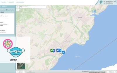Retrouvez les informations dédiées au COVID sur le géoportail !